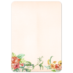 Colorful flowers beachy floral invitation