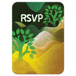 Rolling Hills Trees Bar Mitzvah RSVP Card