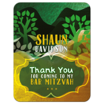 Rolling Hills Trees Bar Mitzvah Thank You Card