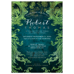 Vintage Classic Ornate Bar Mitzvah Invitation
