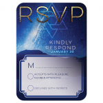Space Night Sky Bar Mitzvah Response Card| RSVP