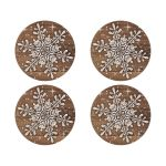 ​Rustic winter snowflake and wood wedding envelope seal stickers
