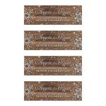 Rustic winter snowflake and wood wedding address labels