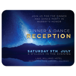 Space Night Sky Bar Mitzvah Reception Card