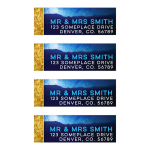 Space Night Sky Blue  Address Labels