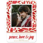 Watercolor Poinsettia Holiday Photo Cards by The Spotted Olive