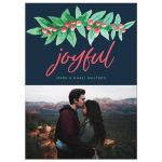 Watercolor Holiday Berries Christmas Photo Cards by The Spotted Olive