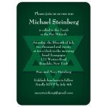 Star of David Green Bar Mitzvah Invitation
