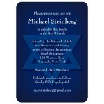Star of David Blue Bar Mitzvah Invitation
