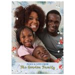 Unique African American Nutcracker ballet family photo Christmas greeting card back