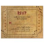Fun wizarding world wizard witch school of magic Bat Mitzvah RSVP card front