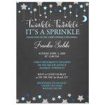 Chalkboard Twinkle Twinkle it's a Sprinkle Boy Baby Sprinkle shower invitation