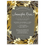 Modern Floral Bat Mitzvah Invitation