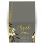 Modern Floral Bat Mitzvah Thank You Card
