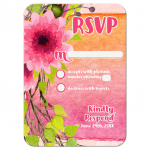 Orange Pink Watercolor Floral Bat Mitzvah Card Set - RSVP