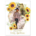Sunflower Photo Graduation Party Invitation