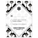 Modern Geometric Black and White Bar Mitzvah Suite