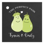 A Perfect Pear / Perfect Pair Wedding Gift Tag Custom Favor Tags