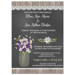 Hydrangea Mason Jar Wedding Invitation (#409)
