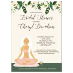 Yoga Bridal Shower Customized Invitation