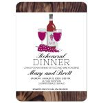 Wine Rehearsal Dinner Wedding Invitation