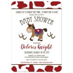 Western Horse Boy Baby Shower Invitation