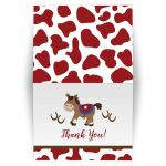 Western Horse Cowboy Folded Thank you note