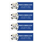 Polar Bear Hockey Sports Return Address Labels