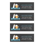 A baby is brewing return address labels / blue / boy baby shower