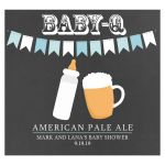 Boy Baby Shower Baby-Q Beer or Wine Label Customized