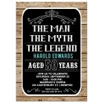 50 year old Man Birthday Invitation