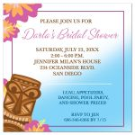 Luau Tiki Girls Day Bridal Shower Invitation