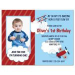 Boys 1st Birthday Airplane Invitation