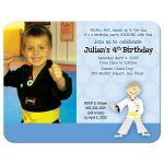 Boys Karate Invitation Martial Arts Any Belt Color