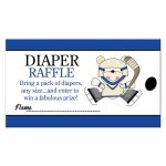 Hockey Diaper Raffle Card for a boy Sports theme baby shower