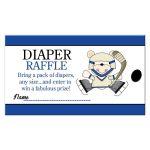 Hockey Diaper Raffle Card for a boy Sports theme baby shower