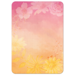Pink orange ombre watercolor background