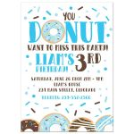 Donut Birthday Invitation / Donut want to miss this party / any age birthday