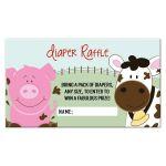 Farm Babies Barn Theme Diaper Raffle Card for a baby shower