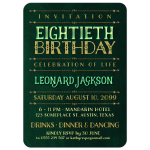 Stylish Gold Lettering 80th Birthday Invitations