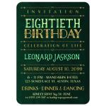 Stylish Gold Lettering 80th Birthday Invitations