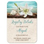 Registry Cards - Beach Lily Seashells and Sand
