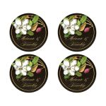 Rustic Magnolia Round Sticker by The Spotted Olive