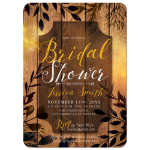 Autumn Rustic Bridal Shower Invitation