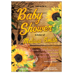 Sunflowers Rustic Baby Shower