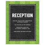 Baseball bar mitzvah reception card with dark silhouette