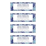 Address Labels - Navy Blue Snowflake