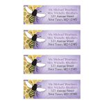 Address Labels - Purple Honeycomb Bee