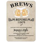 Brews Before I Do's Wedding Shower Invitation