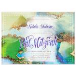 Watercolor Gold Marble Bat Mitzvah Invitation